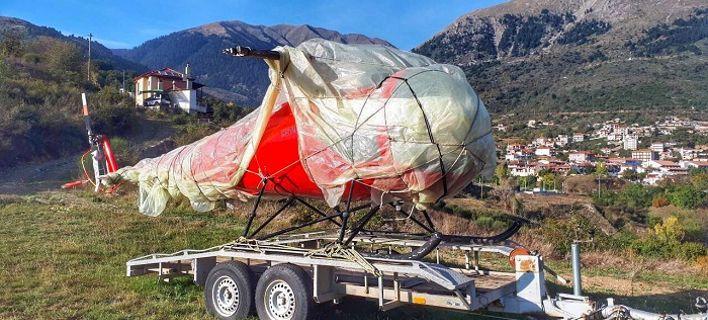 Στο Καρπενήσι εντοπίστηκε ελικόπτερο που είχε κλαπεί