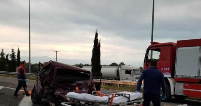 Τροχαίο δυστύχημα με έναν νεκρό και δυο τραυματίες στην Εθνική έξω από τη Λαμία