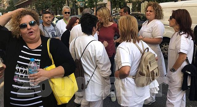 Συγκέντρωση διαμαρτυρίας των τραυματιοφορέων στο υπουργείο Υγείας