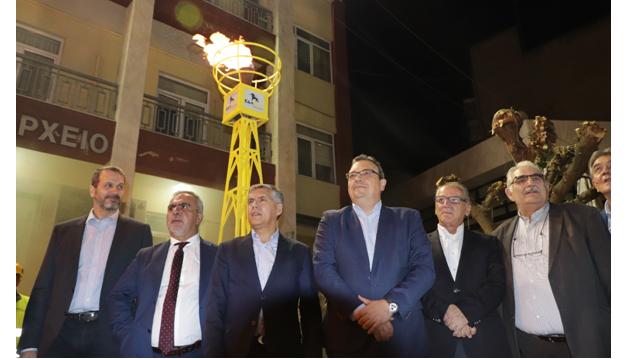 Εγκαινιάστηκε ο πρώτος σταθμός αποσυμπίεσης φυσικού αερίου στον Τύρναβο