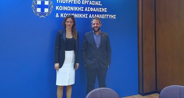 Ζητήματα συντάξεων και αναπήρων έθεσε ο Αλ. Μεϊκόπουλος στην Υπ. Εργασίας