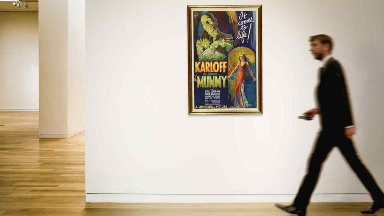 Η αφίσα της ταινίας «Μούμια» αναμένεται να σπάσει κάθε ρεκόρ σε δημοπρασία