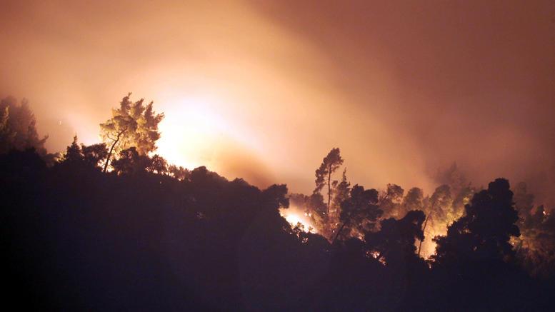 Ανεξέλεγκτη η μεγάλη φωτιά στη Σιθωνία Χαλκιδικής [εικόνες]