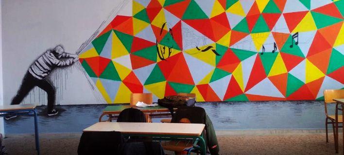 Μαθητές έπιασαν τα πινέλα και ζωγράφισαν 13 αίθουσες του σχολείου τους [εικόνες]