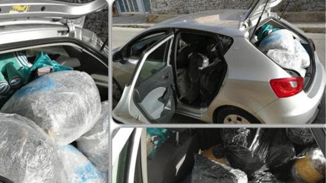 Φυγόποινος φοροφυγάς έφερε 95 κιλά χασίς από την Αλβανία