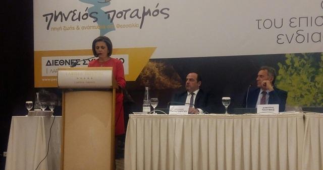 Στο Διεθνές Συνέδριο για τον Πηνειό η υφ. Εσωτερικών Μαρίνα Χρυσοβελώνη