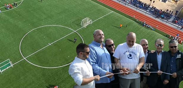 Πλήθος κόσμου στα εγκαίνια του Αθλητικού Κέντρου «Ολγα Βασδέκη»