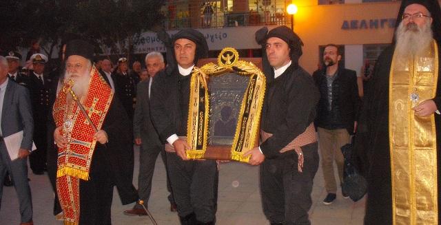 Λαμπρή η υποδοχή της Παναγίας Σουμελά στον Βόλο [photos]