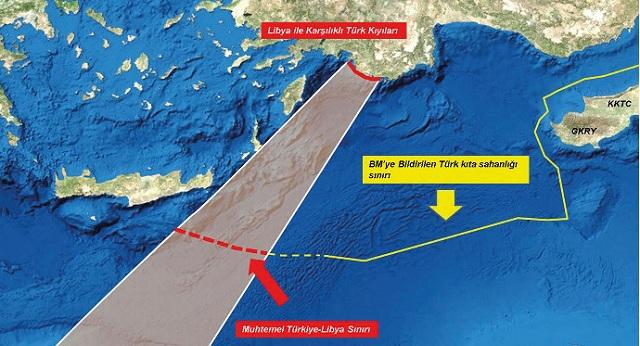 Θαλάσσια σύνορα με τη Λιβύη θέλει η Άγκυρα –Έβγαλε χάρτες ο Ακάρ [εικόνες]