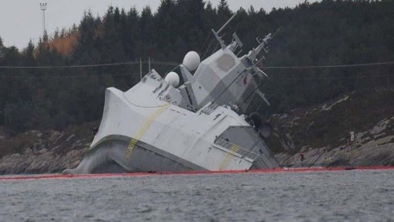 Βυθίστηκε η νορβηγική φρεγάτα που συγκρούστηκε με το ελληνόκτητο πετρελαιοφόρο [εικόνες]