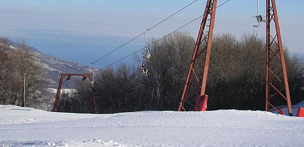 Λευκό τοπίο στις ψηλές βουνοκορφές του Πηλίου και της Οθρυος,