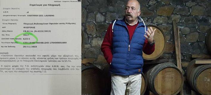 Εξαλλος Ολλανδός με την εφορία στην Ελλάδα: Του μπλόκαραν επένδυση για χρέος 0,03€