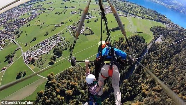 «Πτήση» τρόμου για τουρίστα στην Ελβετία: Ο δάσκαλος δεν τον έδεσε στο αιωρόπτερο