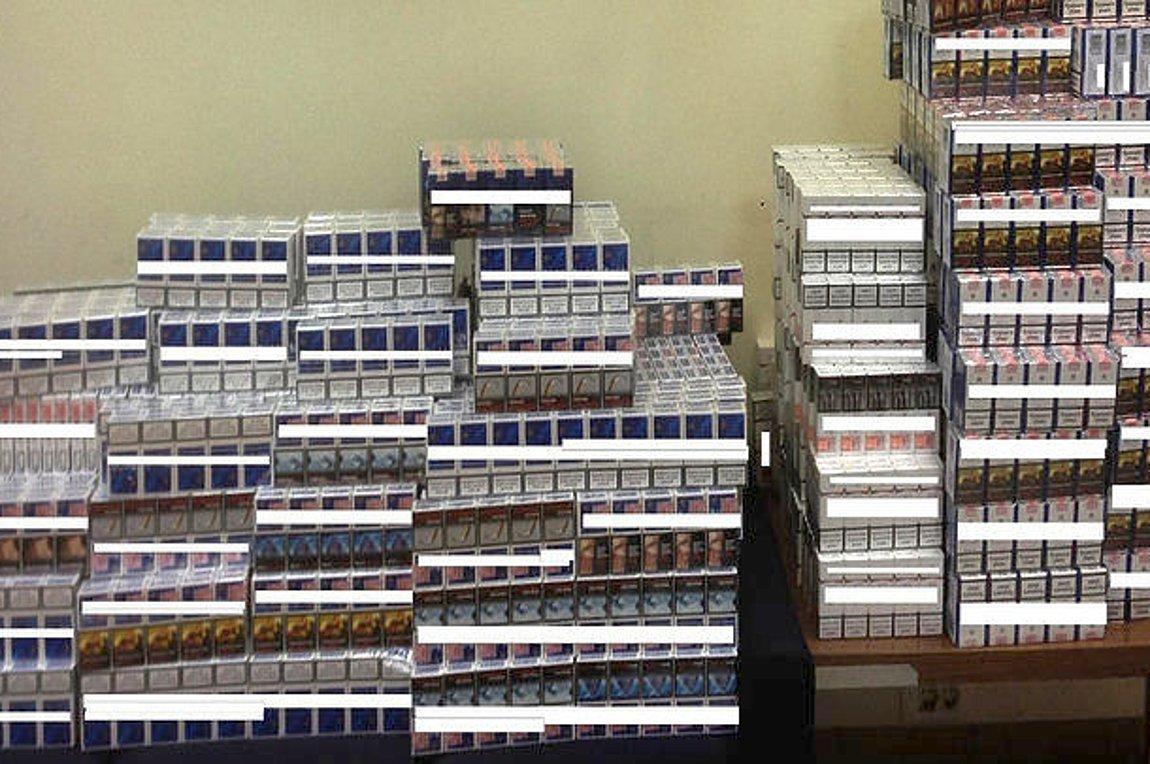Συνελήφθη με περισσότερα από 1.100 λαθραία πακέτα τσιγάρα