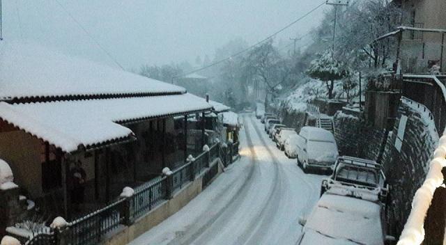 Νέα χιονόπτωση αναμένεται στην κορυφή του Πηλίου