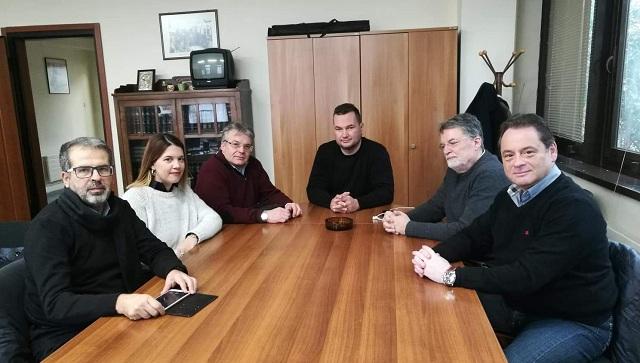 Συνάντηση Απ. Παπαδούλη με τη διοίκηση του ΕΚΒ