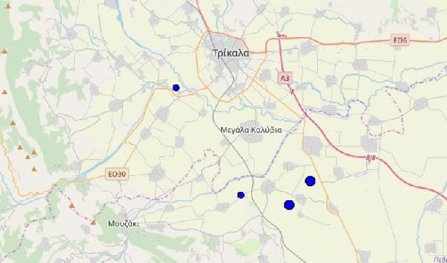Μετασεισμικές δονήσεις μετά τα μεσάνυχτα της Δευτέρας στην περιοχή της Κρανιάς Μουζακίου