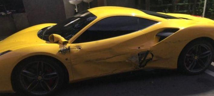 Επεσε σε 3 Ferrari, έκανε ζημιές 390.000 δολ. και η εξέλιξη που δεν περίμενε
