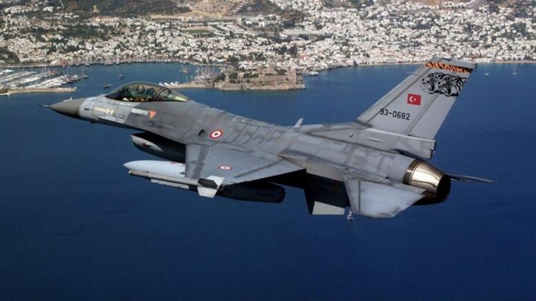 Υπερπτήση δύο τουρκικών F-16 πάνω από το Καστελόριζο