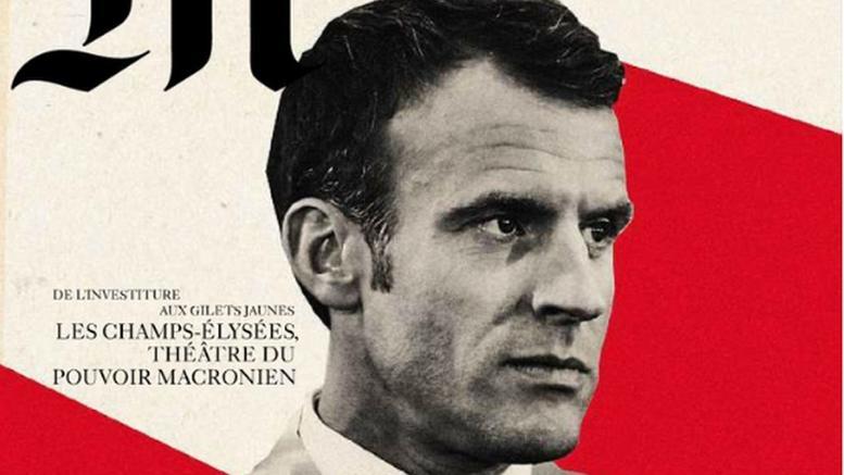 Σάλος για το εξώφυλλο της Le Monde με τον Μακρόν που παραπέμπει σε Χίτλερ
