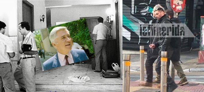 Ο Κουφοντίνας ξανά κοντά στα σημεία που δολοφόνησε Π.Μπακογιάννη, Αξαρλιάν και Βρανόπουλο [εικόνες]