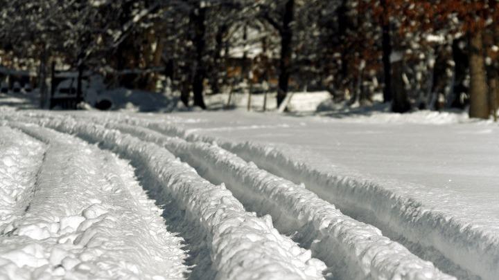 Έντονες χιονοπτώσεις στο Νομό Τρικάλων