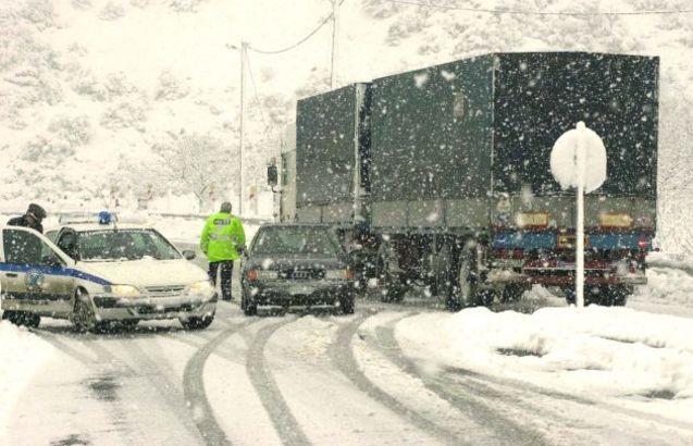 Απαγόρευση κυκλοφορίας φορτηγών στον Ε65 στο Νομό Καρδίτσας