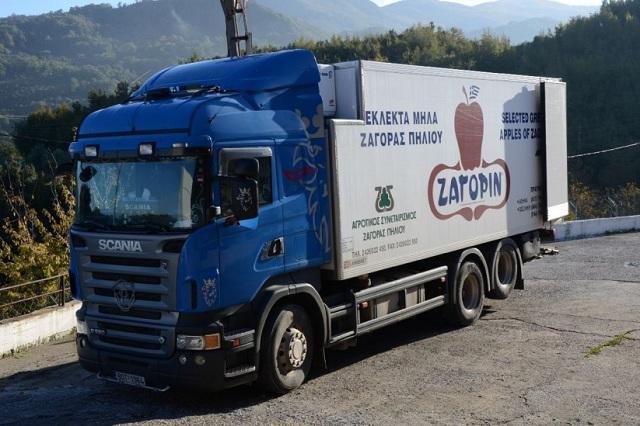 Επιχείρηση διέλευσης δύο φορτηγών του ΖΑΓΟΡΙΝ στο Πήλιο