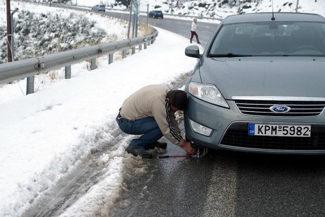 Πού απαγορεύεται η κυκλοφορία, πού απαιτούνται αλυσίδες στο οδικό δίκτυο της Θεσσαλίας