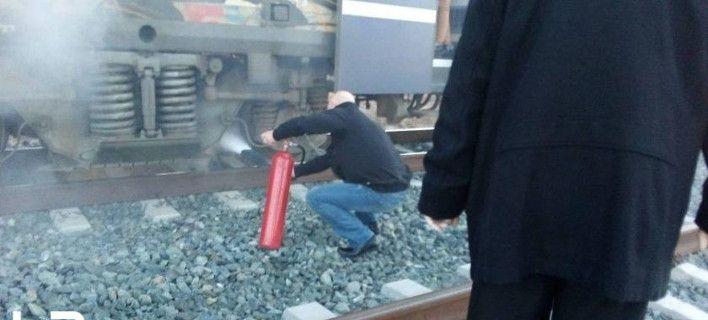 Φωτιά σε τρένο από Θεσσαλονίκη προς Αθήνα