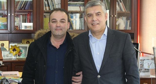 Συνάντηση Κ. Αγοραστού με εκπρόσωπο του Συλλόγου Σαρακατσαναίων Ευξεινούπολης