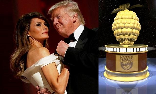 Υποψήφιοι για Χρυσό Βατόμουρο Ντόναλντ και Μελάνια Τραμπ