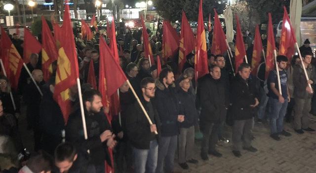 Μαζική συγκέντρωση του ΚΚΕ στη Λάρισα ενάντια στην Συμφωνία των Πρεσπών