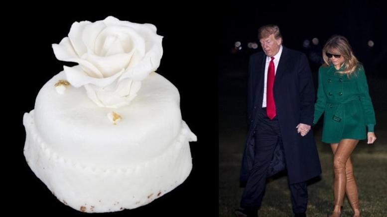 Πωλείται τούρτα-μινιατούρα από τον γάμο των Ντόναλντ και Μελάνια Τραμπ