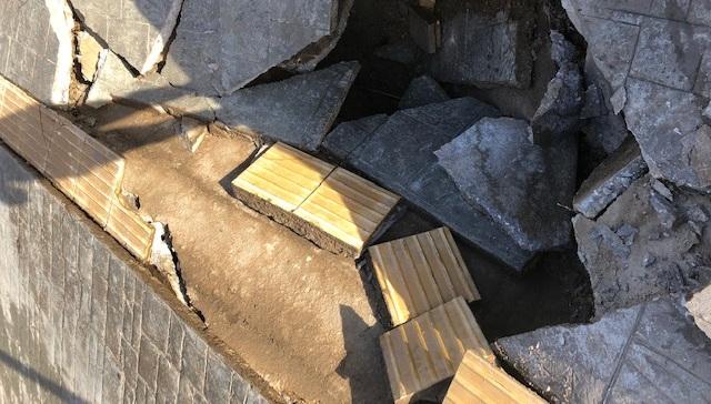 Καθίζηση στην παραλιακή στο Παπά Νερό