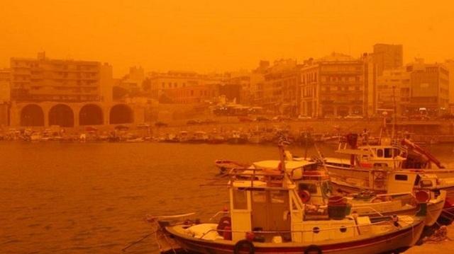 Αφρικανική σκόνη «έπνιξε» την Κρήτη