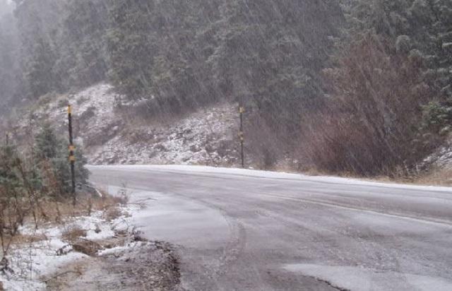 Χιόνι χθες σε Χάνια και Ανάβρα