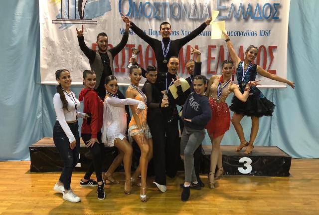 Bολιώτες πρωταθλητές Ελλάδας στον αθλητικό χορό