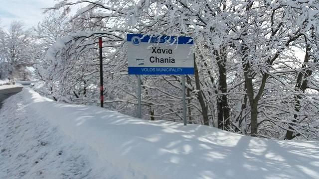 Θυελλώδεις ανέμους έφερε η «Χιόνη» και χιόνι σε Πήλιο και Ανάβρα