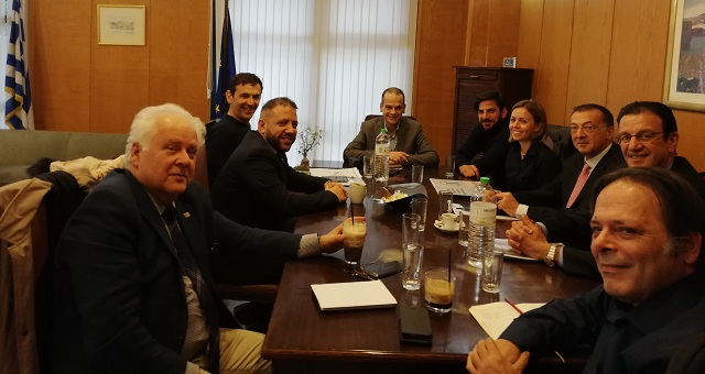 Συνάντηση στο Υπουργείο Υποδομών για την αξιοποίηση του οικοπέδου δίπλα στο «Παντελής Μαγουλάς»