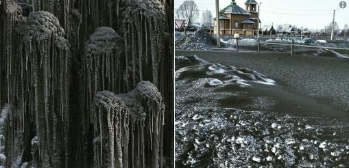 Μαύρο χιόνι και τοξικό στους δρόμους της Σιβηρίας