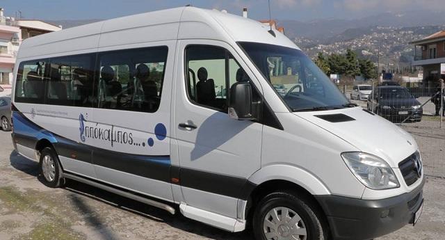 Κοπή πίτας και αγιασμός του νέου λεωφορείου του «ΙΠΠΟΚΑΜΠΟΥ»