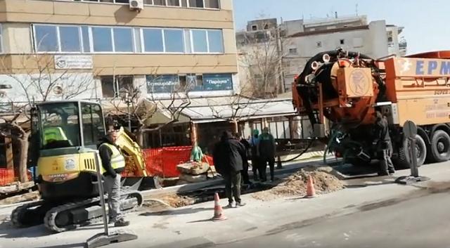 Κυκλοφοριακή ταλαιπωρία στο κέντρο του Βόλου λόγω τριών έργων