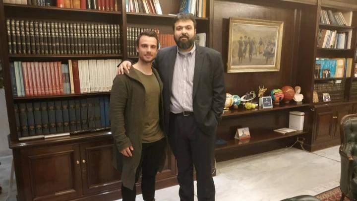 Στον υφυπουργό ο Βολιώτης πρωταθλητής Χρήστος Βολικάκης