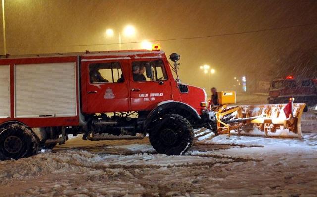 Επιχείρηση απεγκλωβισμού 4 ατόμων λόγω παγετού στην Καρδίτσα