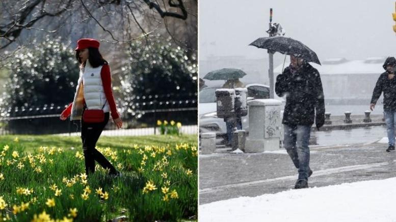 Φεβρουάριος: Ρεκόρ ζέστης στην Αγγλία - Χιόνια στην Ελλάδα