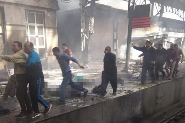 Νεκροί και τραυματίες από φωτιά στον σιδηροδρομικό σταθμό στο Κάιρο