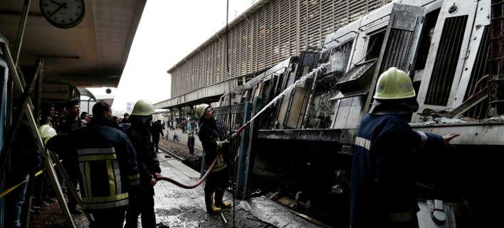 Τουλάχιστον 25 οι νεκροί από την πυρκαγιά σε σιδηροδρομικό σταθμό στο Κάιρο