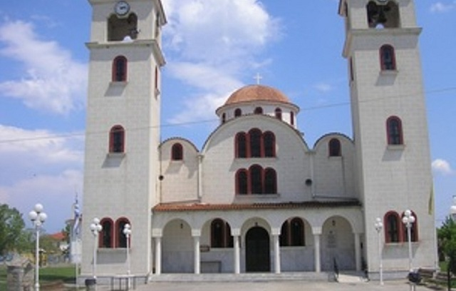 Ιερό λείψανο του Αγίου Λουκά στο Ναό Κοιμήσεως της Θεοτόκου Ευξεινούπολης