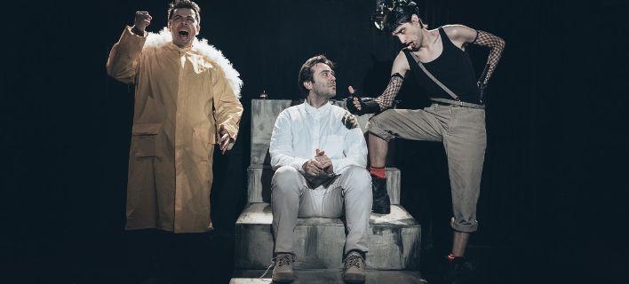 Ολοι οι ήρωες του Αρκά σε μία παράσταση: Μπαμπάς Σπουργίτης, Ισοβίτης, Λουκρητία [εικόνες]